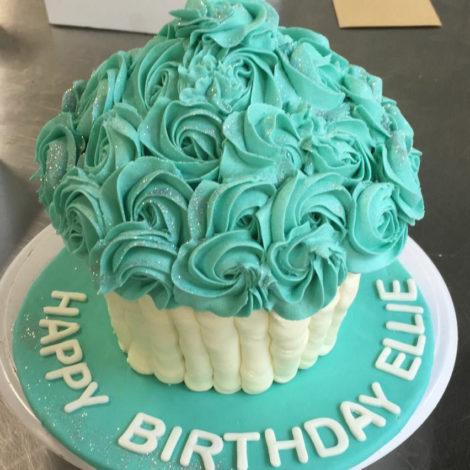 Giant Cupcake, teal
