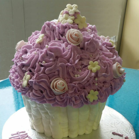 Giant Cupcake, purple